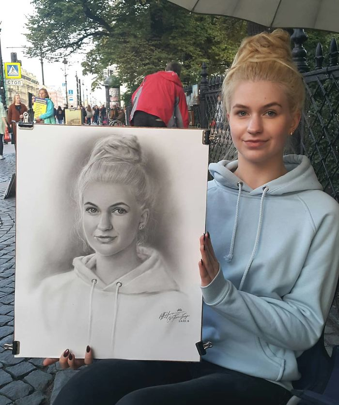 Realistic Portrait of a Young Lady by Nikolay Yarakhtin 3