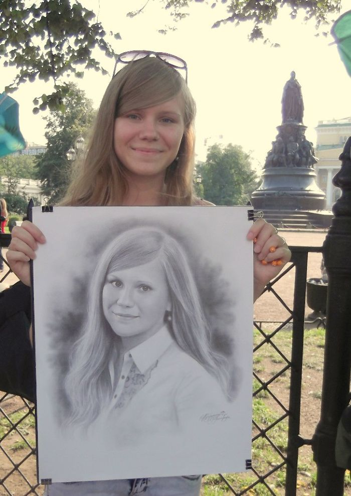 Realistic Portrait of a Young Lady by Nikolay Yarakhtin 5