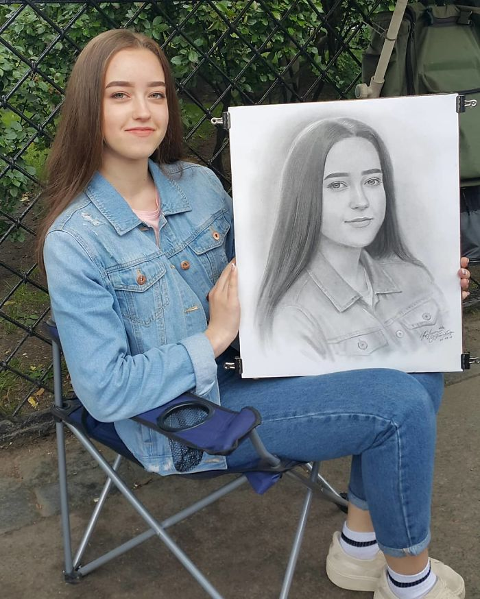 Realistic Portrait of a Young Lady by Nikolay Yarakhtin 6