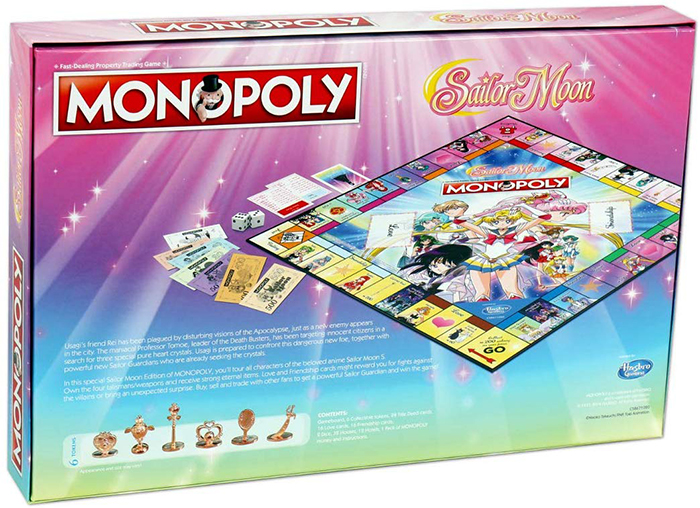 Sailor Moon Monopoly Board box back