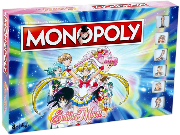 Sailor Moon Monopoly Board box front