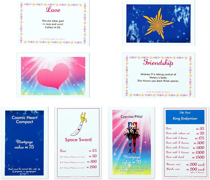 Sailor Moon Monopoly special cards