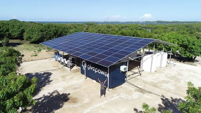 Solar Power Water Transforming Plant in Kenya