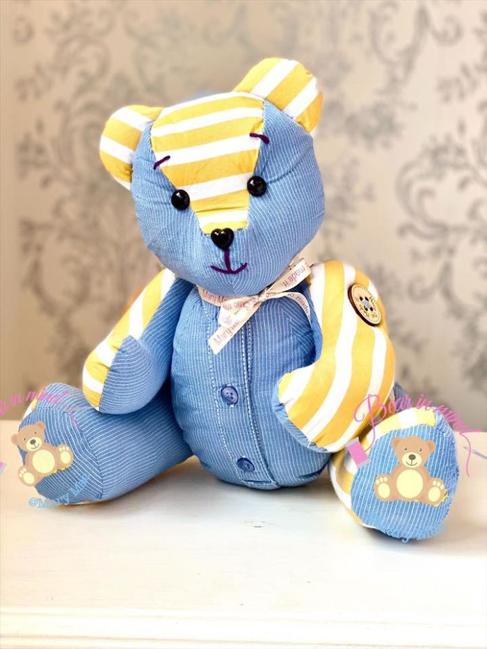 Stuffed Teddy Made of Different Clothing Materials