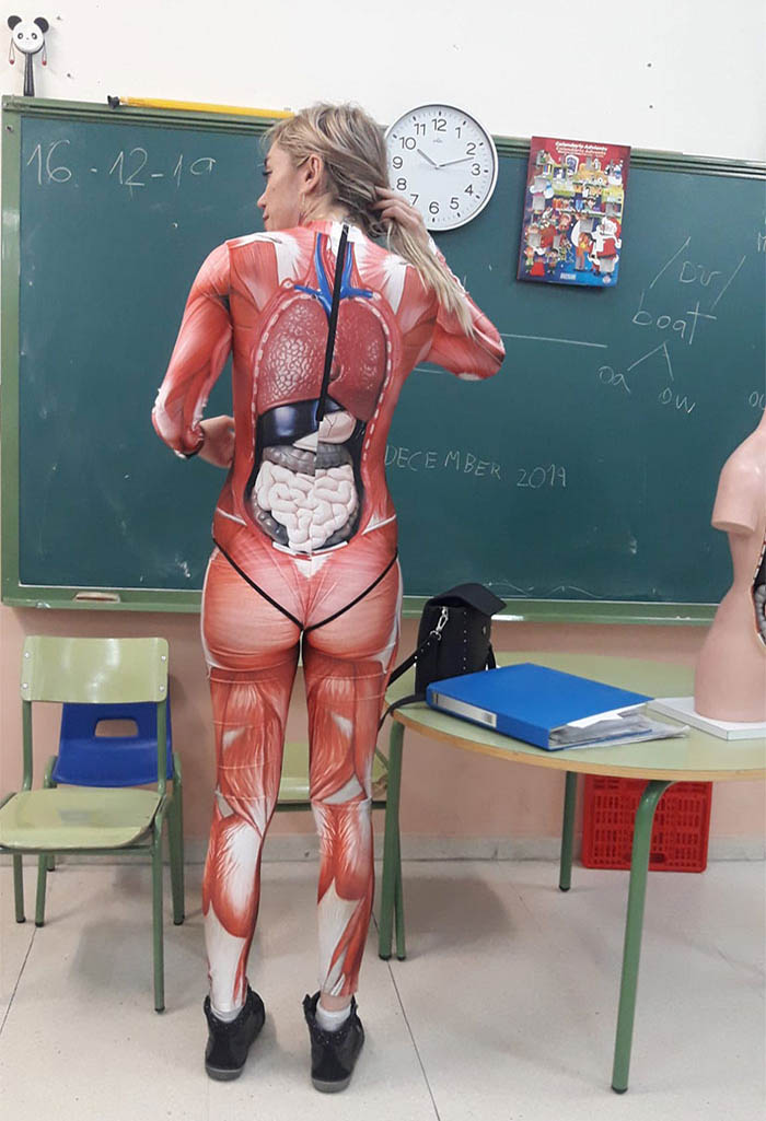 Teacher Mapping Human Body