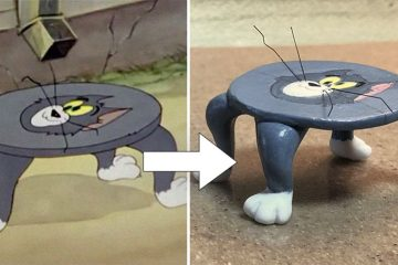 Tom and Jerry sculptures