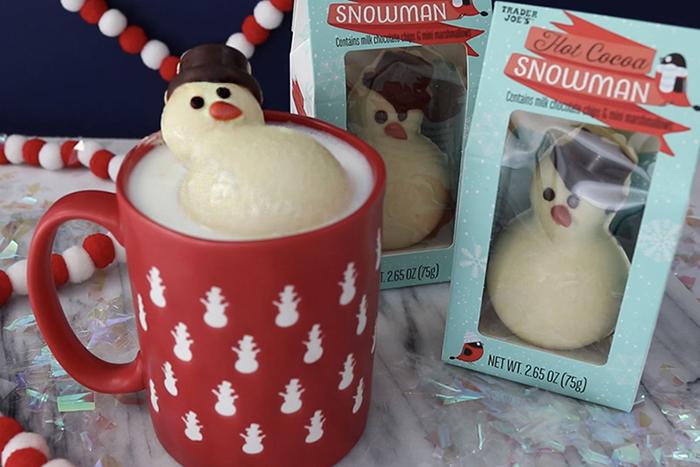 Trader Joe's Hot Cocoa Snowman in Mug