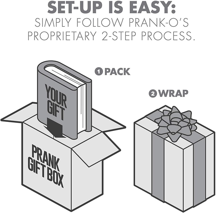 Two-Step Process for Pulling Gift Box Prank