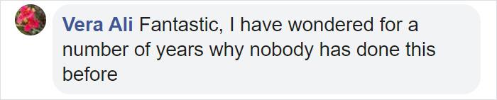 Vera Ali Facebook Comment