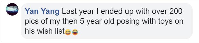 Yan Yang Facebook Comment on Kristina Watts Christmas Mom Hack