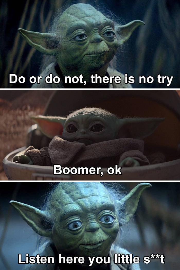 baby yoda memes boomer joke