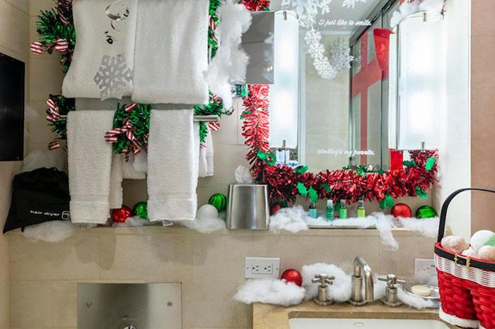 bathroom at the winter wonderland suite