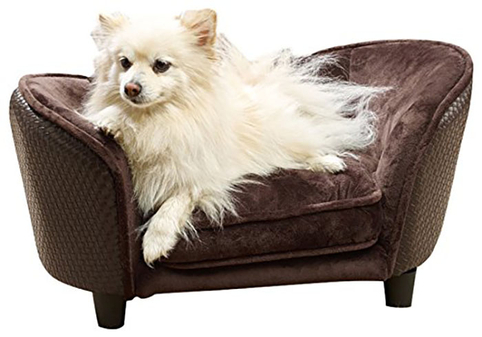 brown pet couch