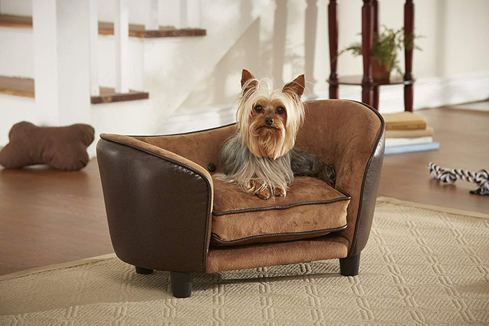brown pet couches