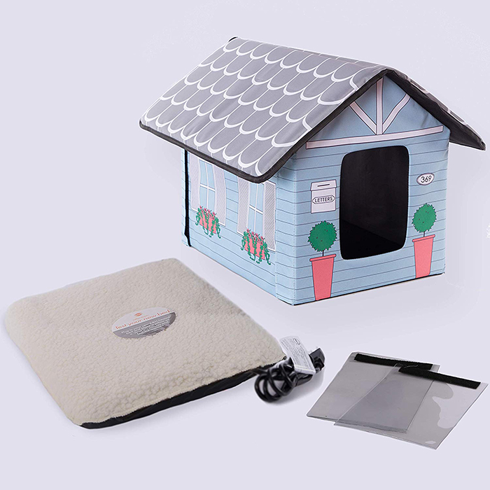 cottage design heating pad transparent flaps