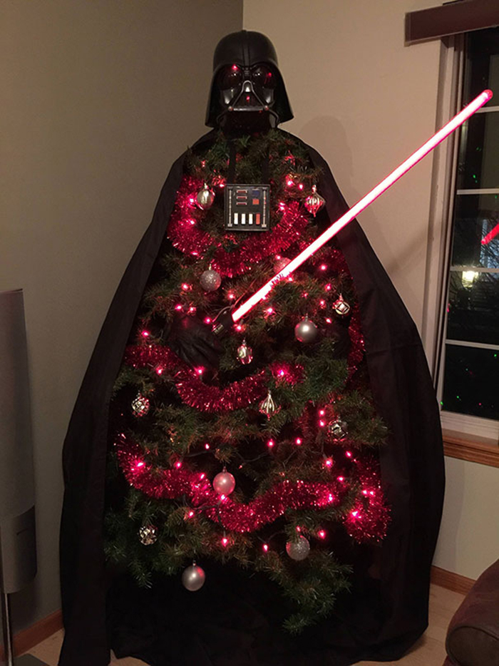 creative christmas tree ideas darth vader