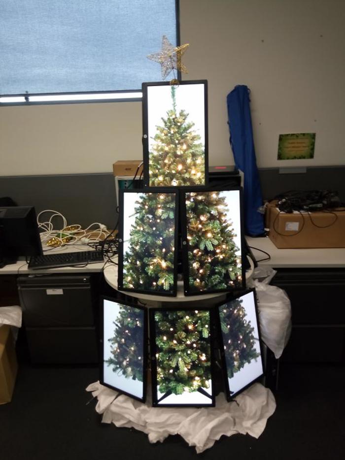 creative christmas tree ideas monitors
