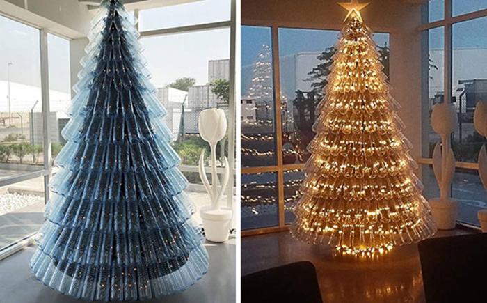 creative christmas tree ideas plastic bottles