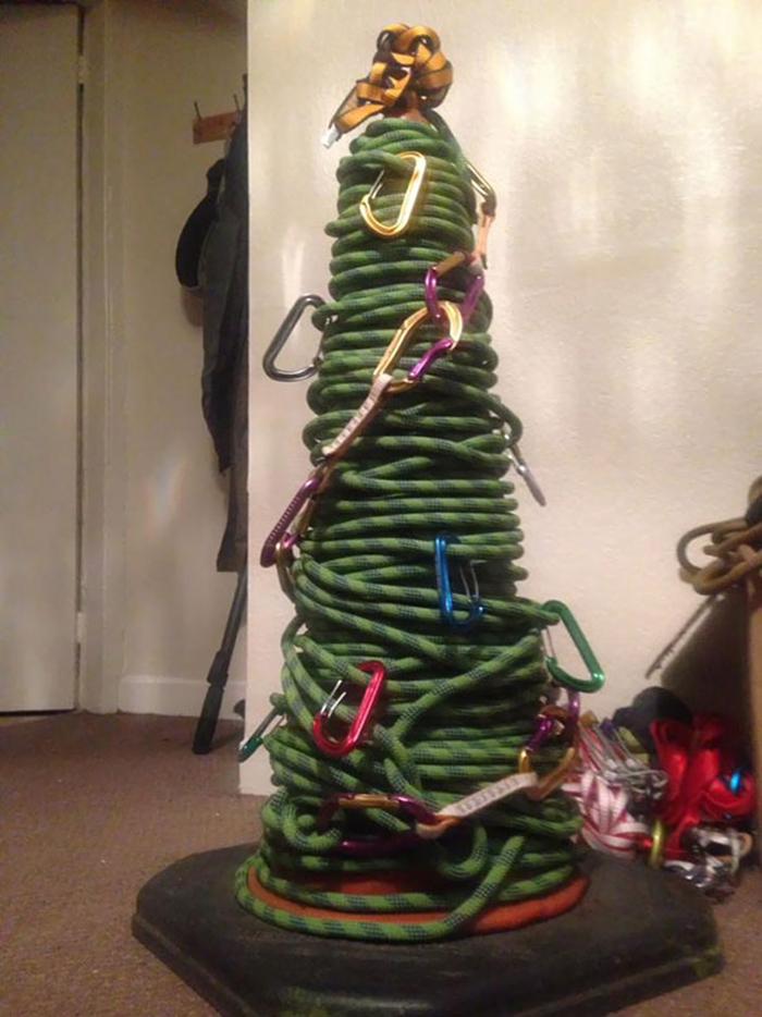 creative christmas tree ideas ropes