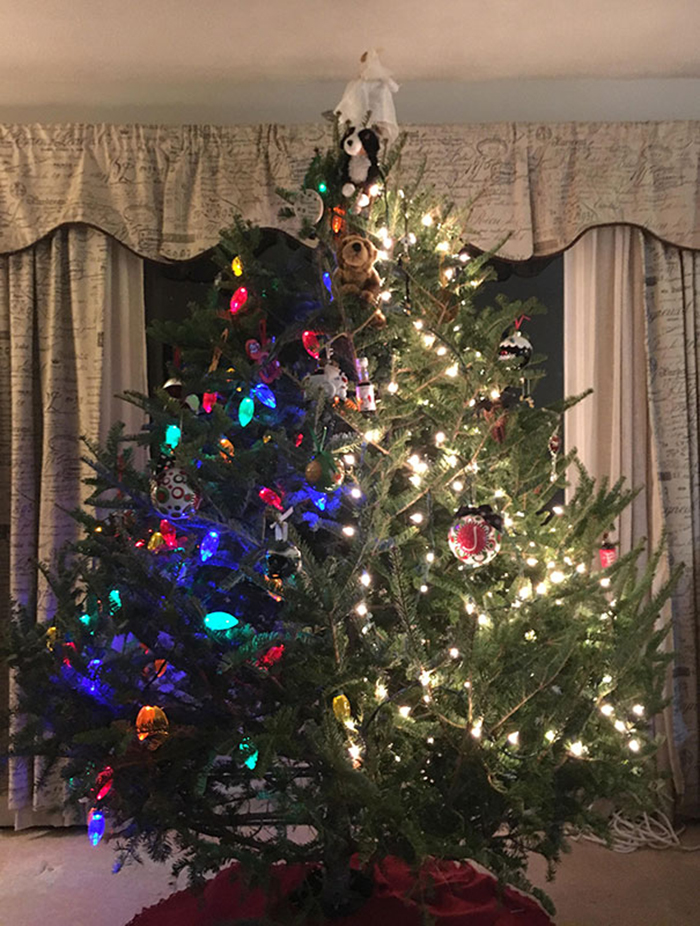 creative christmas tree ideas two-toned