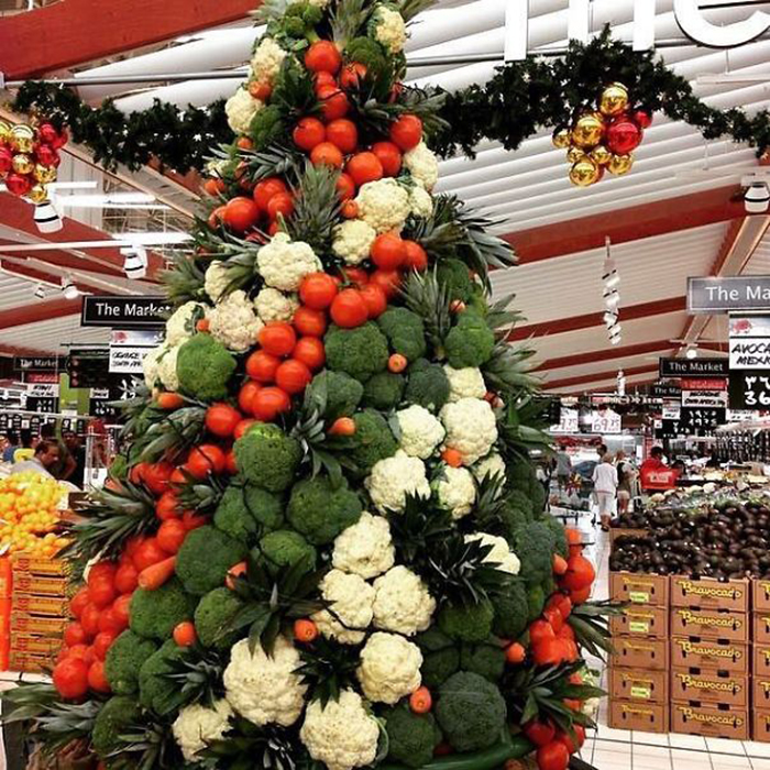 creative christmas tree ideas vegetables