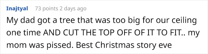 dad trolling wife photoshopped christmas tree comment inajtyal