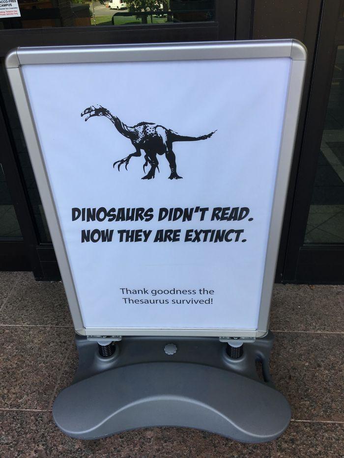dinosaur library joke