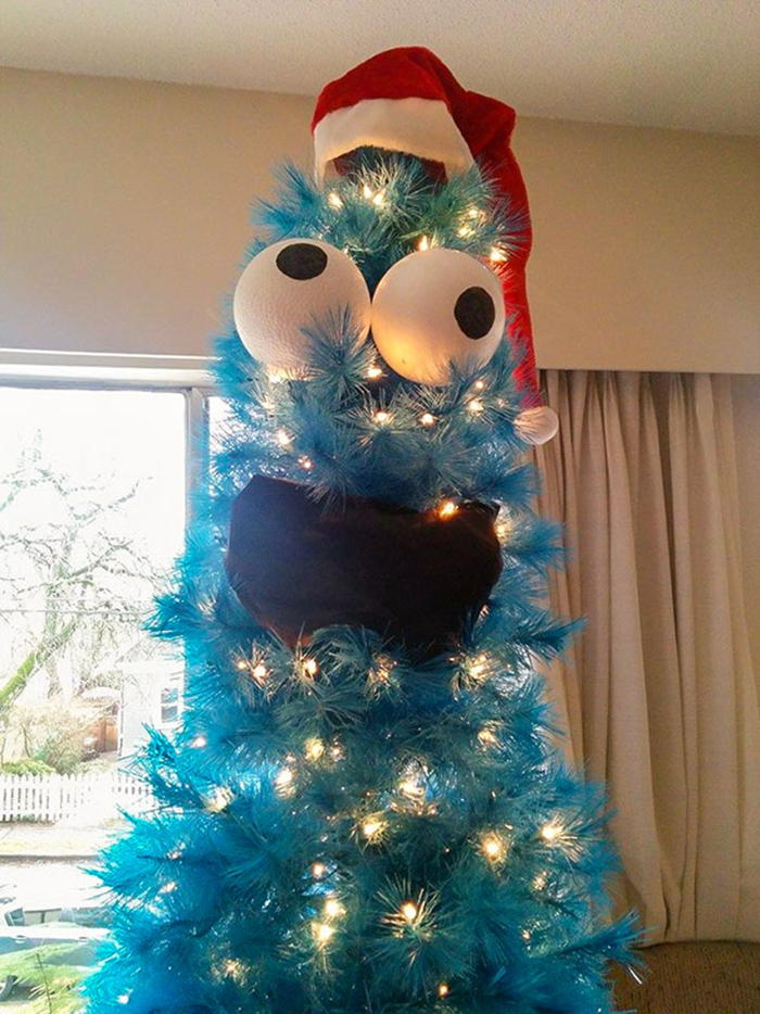 diy holiday trees cookie monster