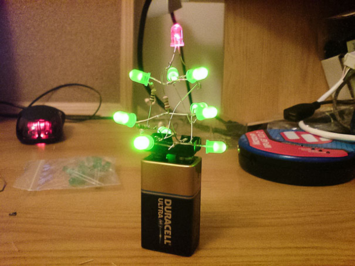 diy holiday trees duracell battery