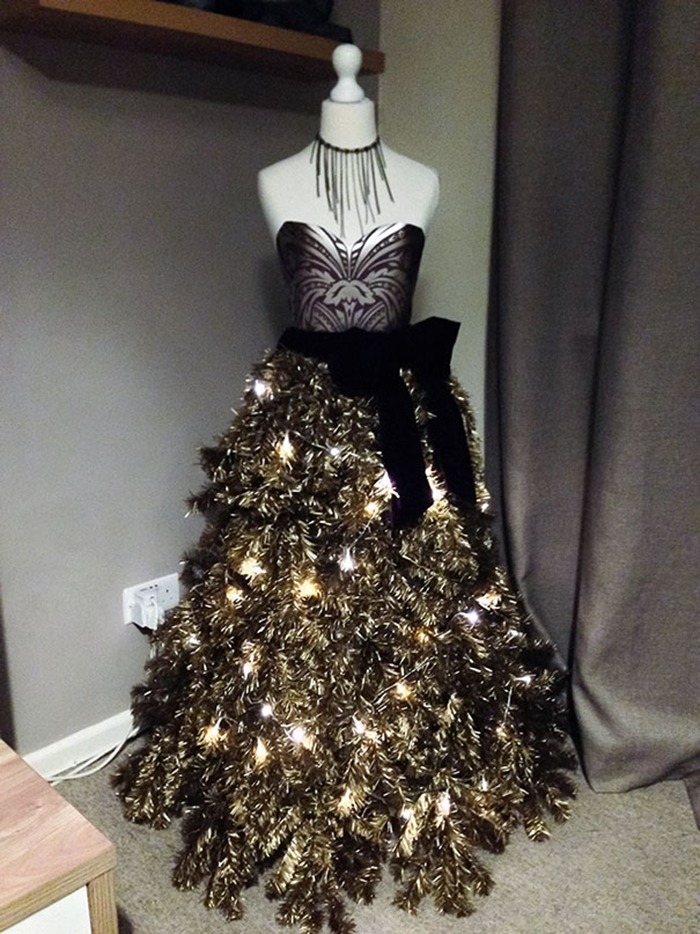 diy holiday trees gown