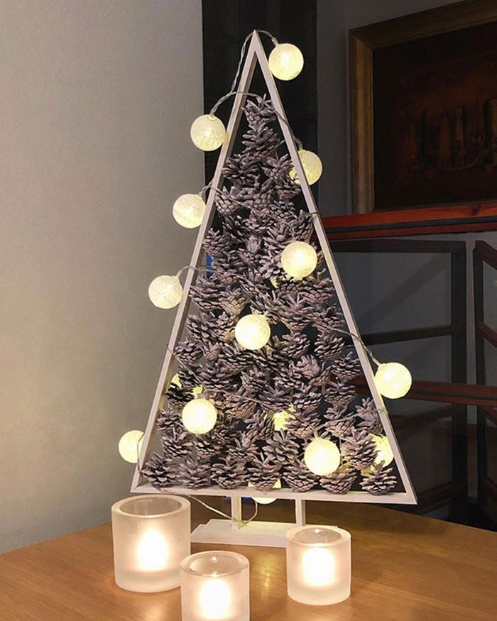diy holiday trees pinecones