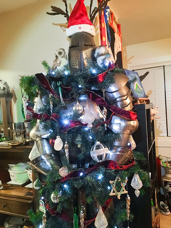 diy holiday trees silent knight