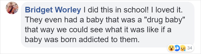 fake babies class project comment bridget
