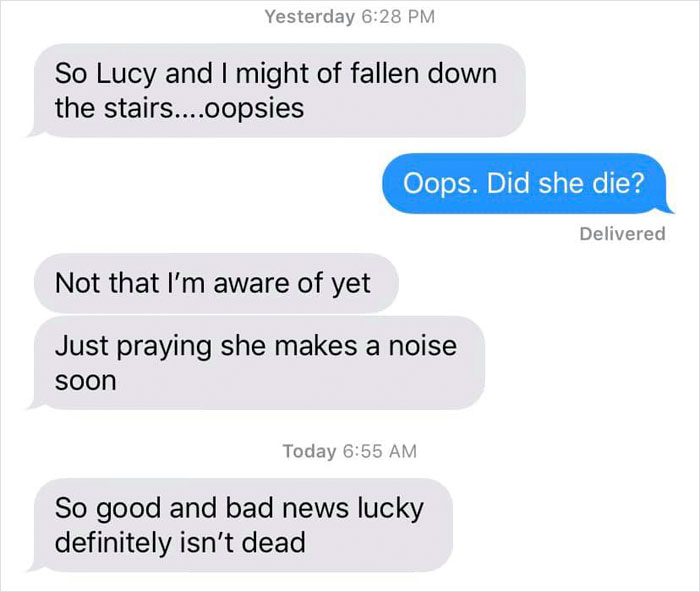 fake babies class project desperate texts lucy fell down
