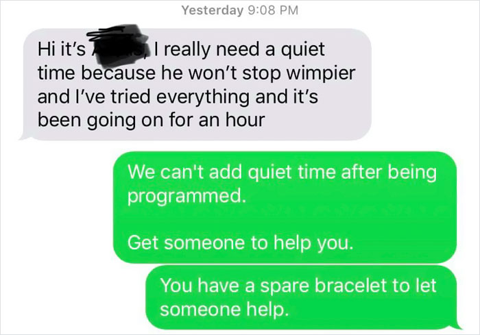 fake babies class project desperate texts quiet time