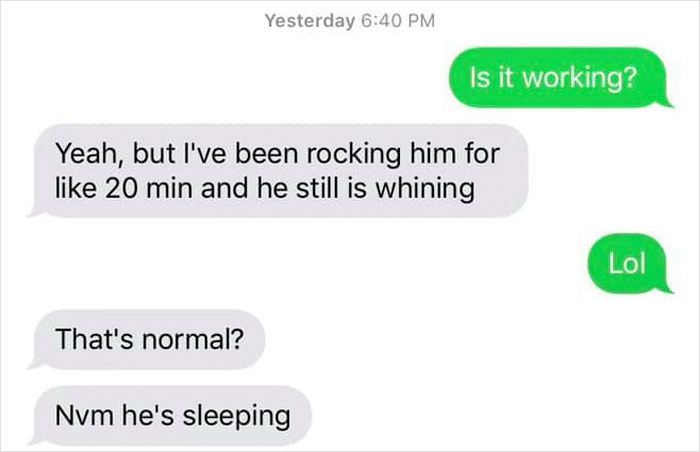 fake babies class project desperate texts still whining