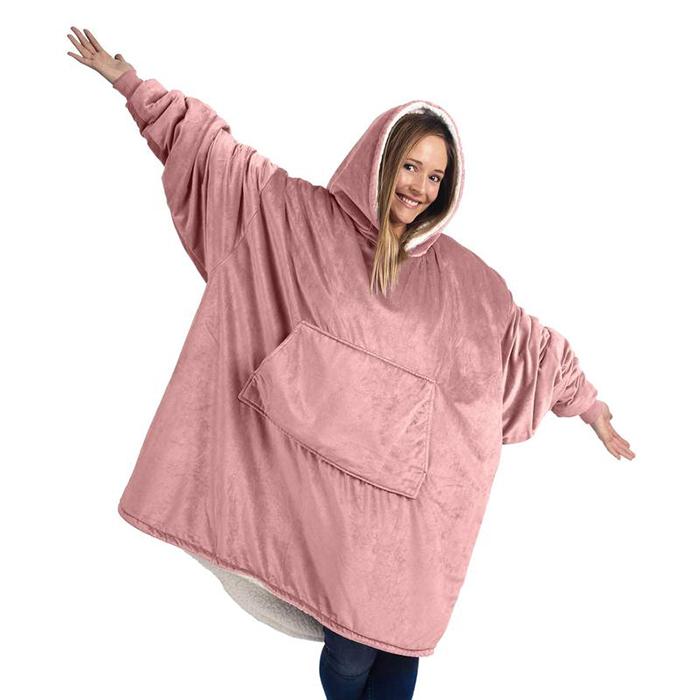 giant hoodie blankets blush