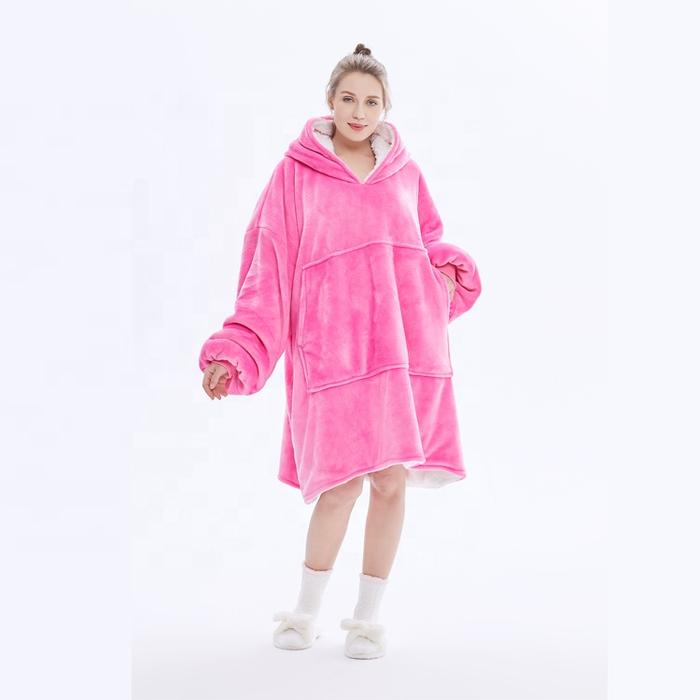 giant hoodie blankets pink