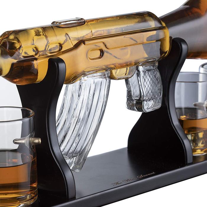 glass ar-15 rifle decanter grip
