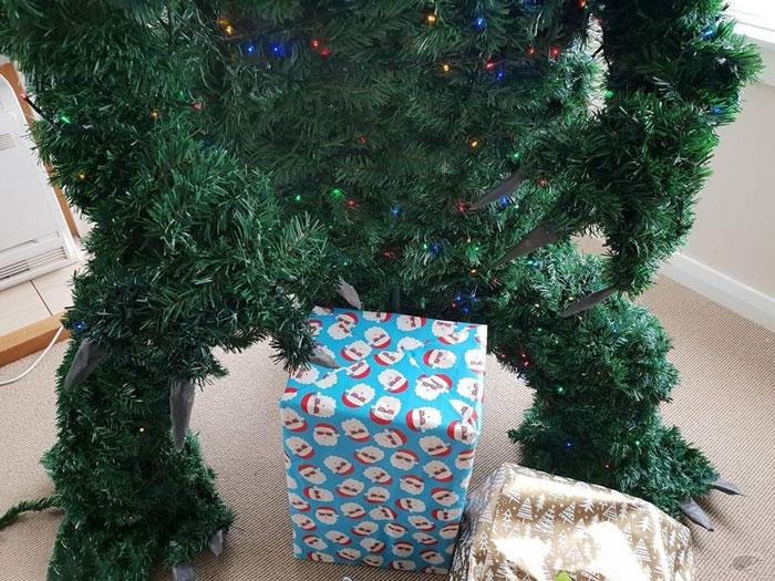 godzilla christmas tree gifts