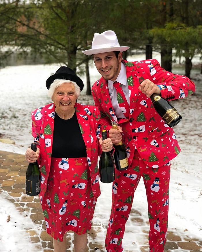 granny grandson comic duo christmas