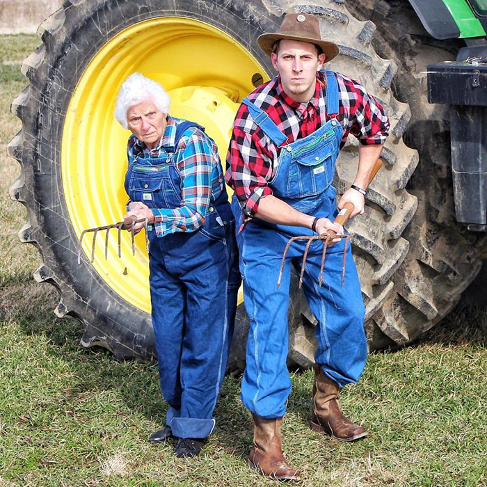 granny grandson comic duo green acres