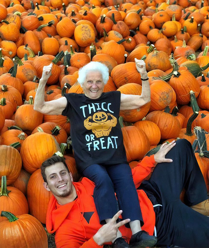 granny grandson comic duo halloween