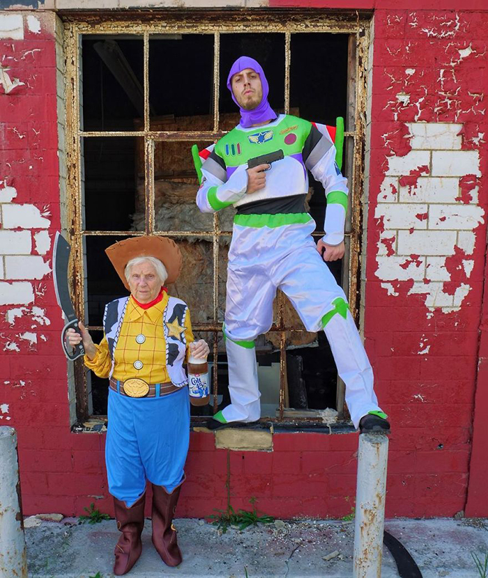 granny grandson comic duo toy story