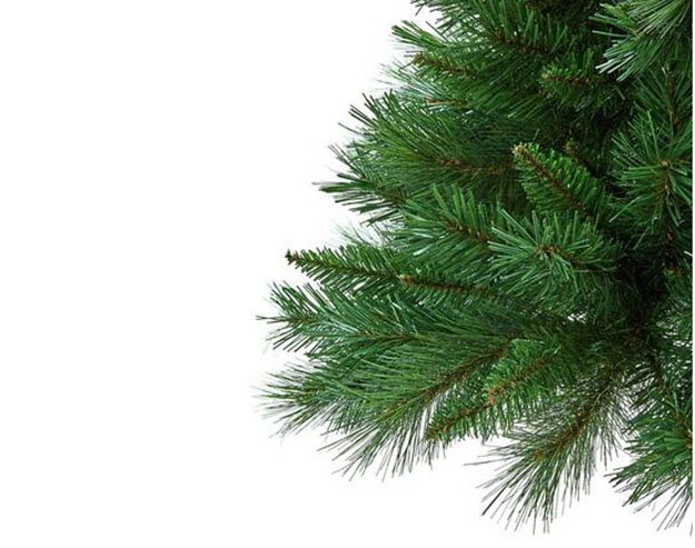 green half christmas tree bristles