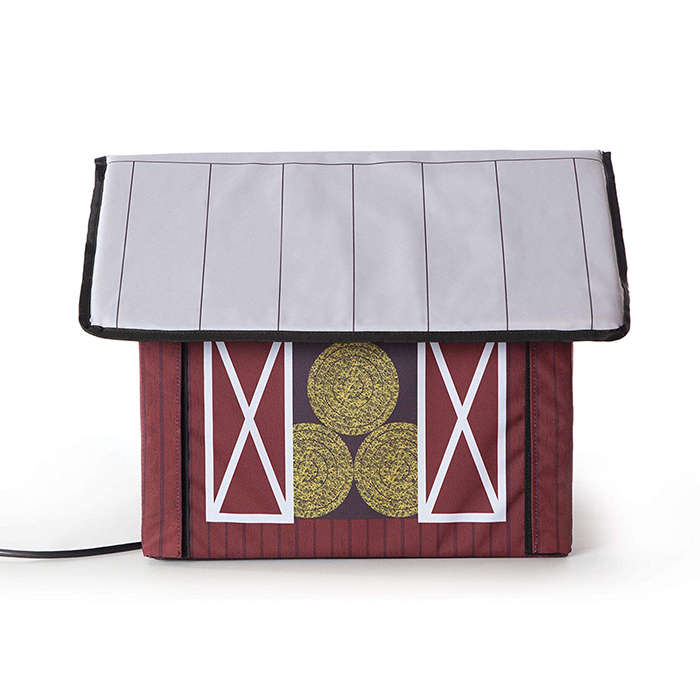 heated outdoor cat house barn design side