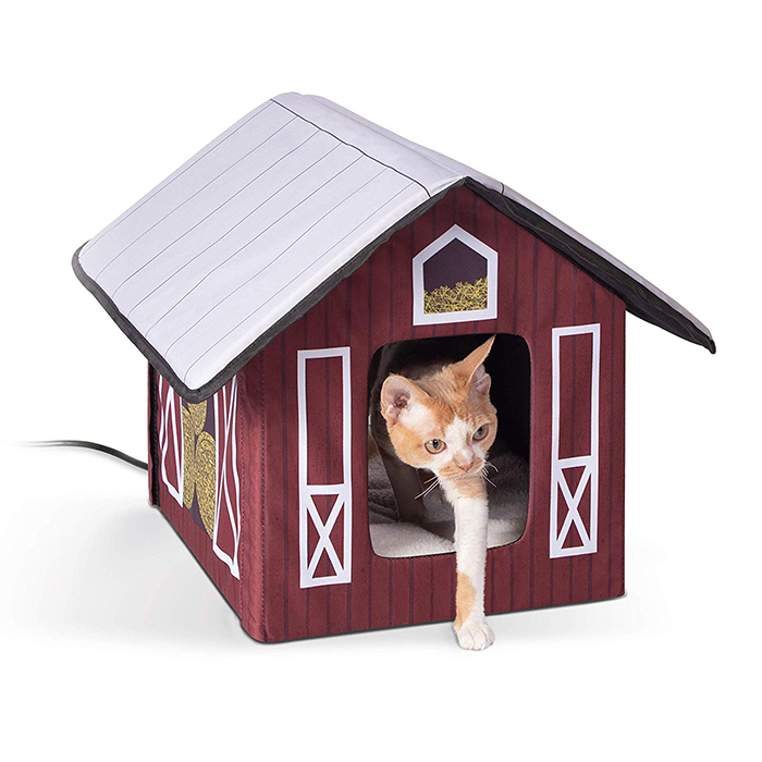 heated outdoor cat house barn design
