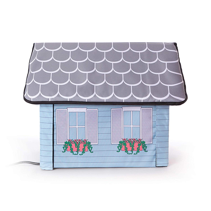 heated outdoor cat house cottage design side