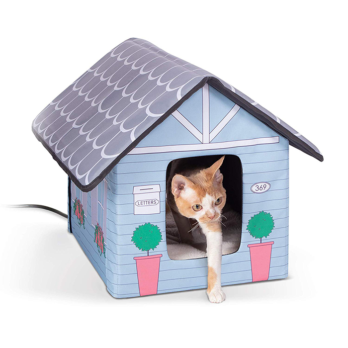 heated outdoor cat house cottage design