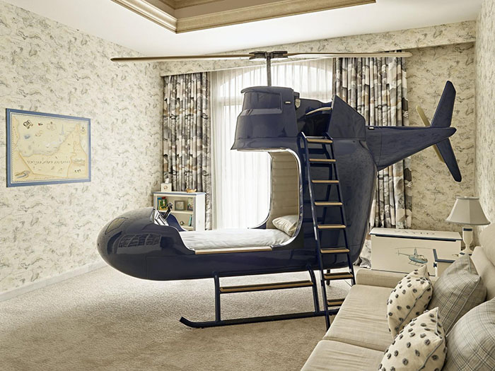 helicopter kids bed
